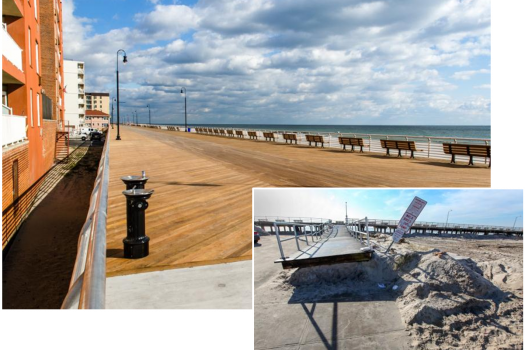 Jersey Shore after Sandy and after Disaster Relief